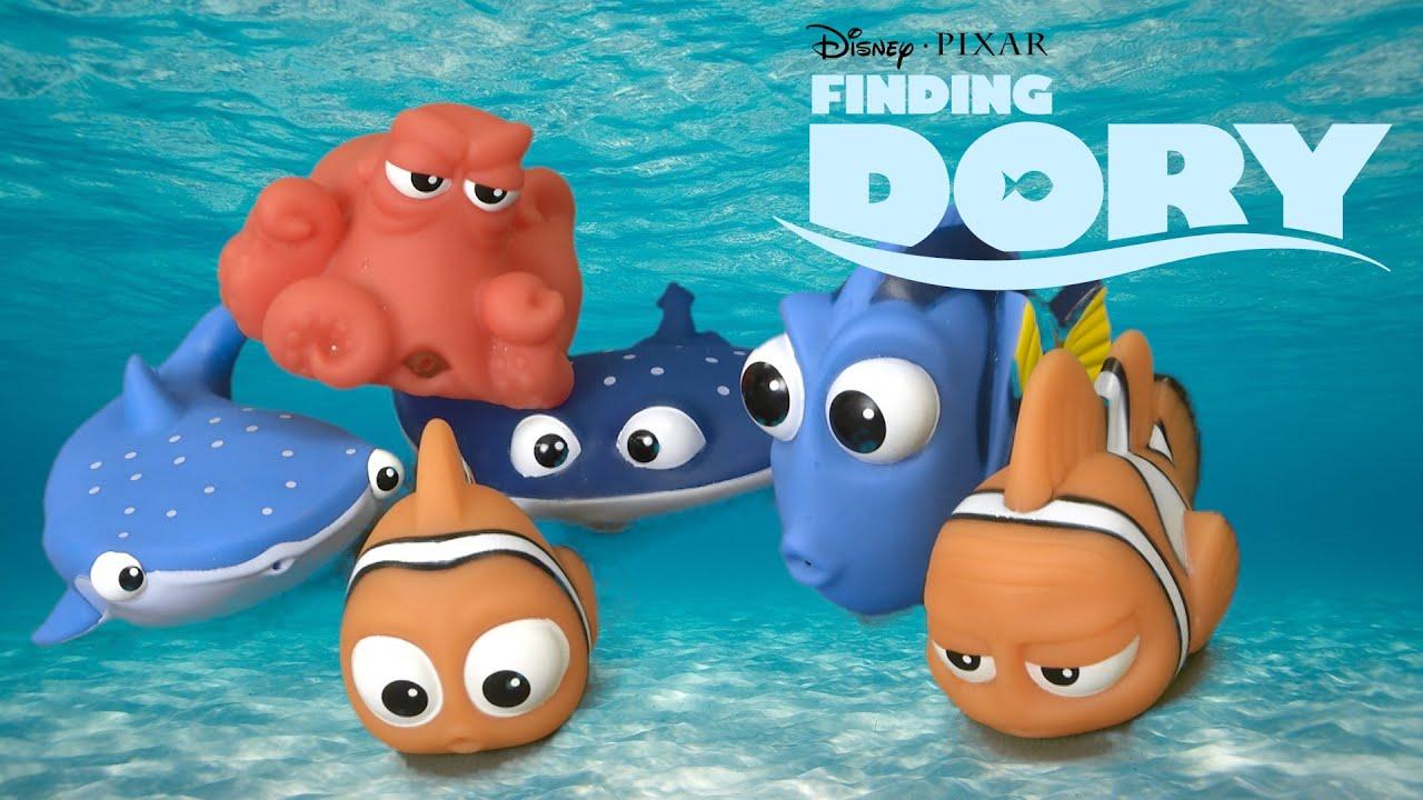 finding dory bath squirters dory marlin destiny hank nemo mr ray