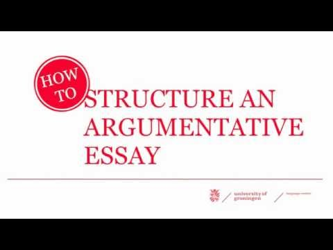 How to Structure an Argumentative Essay - YouTube