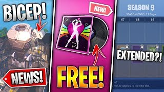 Free Music Pack, Season 9 Extended, 1v1 LTM, Robot Bicep, 9.40 Fixes, Singularity! - Fortnite News