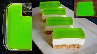 Condensed Milk and Biscuit Dessert  Layered Jelly Desert  Easy Dessert Recipes