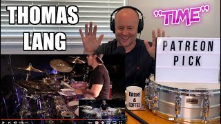 Drum Teacher Reacts: THOMAS LANG performing the song Time from his album ProgPop (2021 Reaction)