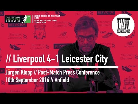 Jurgen Klopp Post-Leicester Press Conference: 10 September, 2016
