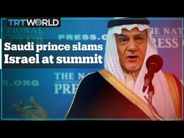 "Saudi Prince's blistering attack on Israel - ""You're a colonising power!"""