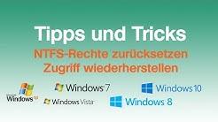NTFS Zugriffs-Rechte zurücksetzen : So gehts
