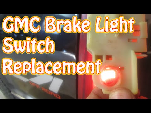 diy how to replace a gmc brake light switch chevy silverado pickup truck brake  switch replacement - youtube