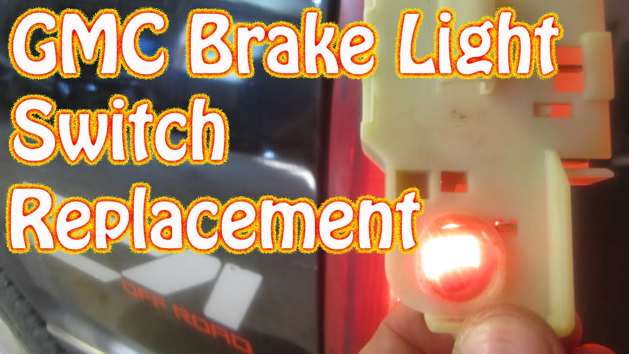 diy how to replace a gmc brake light switch chevy