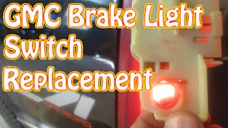 DIY How to Replace a GMC Brake Light Switch Chevy Silverado Pickup Truck Brake Switch Replacement
