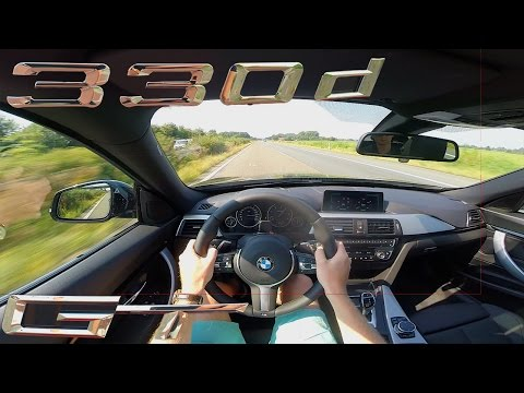 BMW 3 Series GT 2017 330D ACCELERATION & TOP SPEED on AUTOBAHN Test Drive