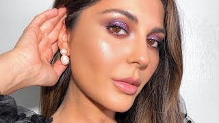 Purple Glitter Makeup + Testing Top Two Foundations