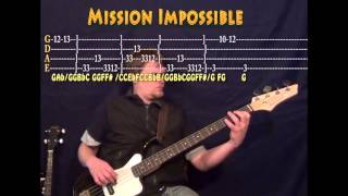 Mission Impossible - Bass Guitar Cover Lesson with TAB