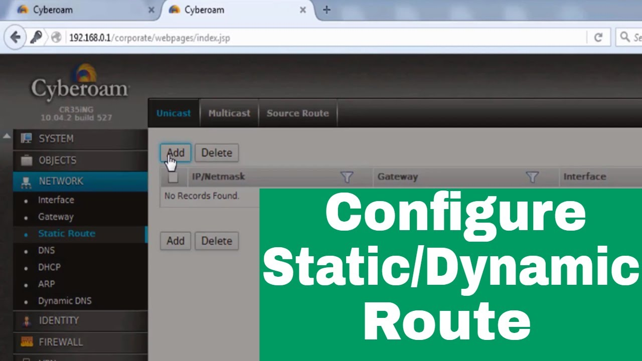 How to add static route in cyberoam | Add default gateway in cyberoam  firewall | RajTech