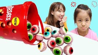 몰티져스 통안에 눈알젤리 서은이의 눈젤리 보물찾기 숨바꼭질 놀이 젤리 사탕 Eye Jelly in Maltesers Box Seoeun Story