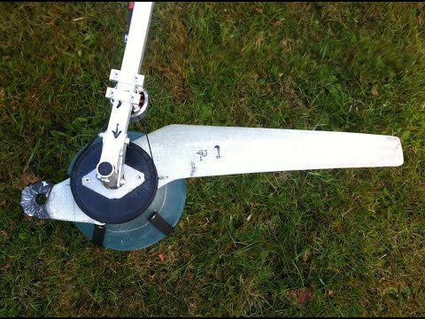 Single blade propeller multirotor test 1