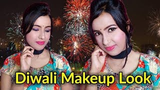 Diwali Makeup Look  [Dipawali Makeup]    Easy Makeup Just In 15 Minutes