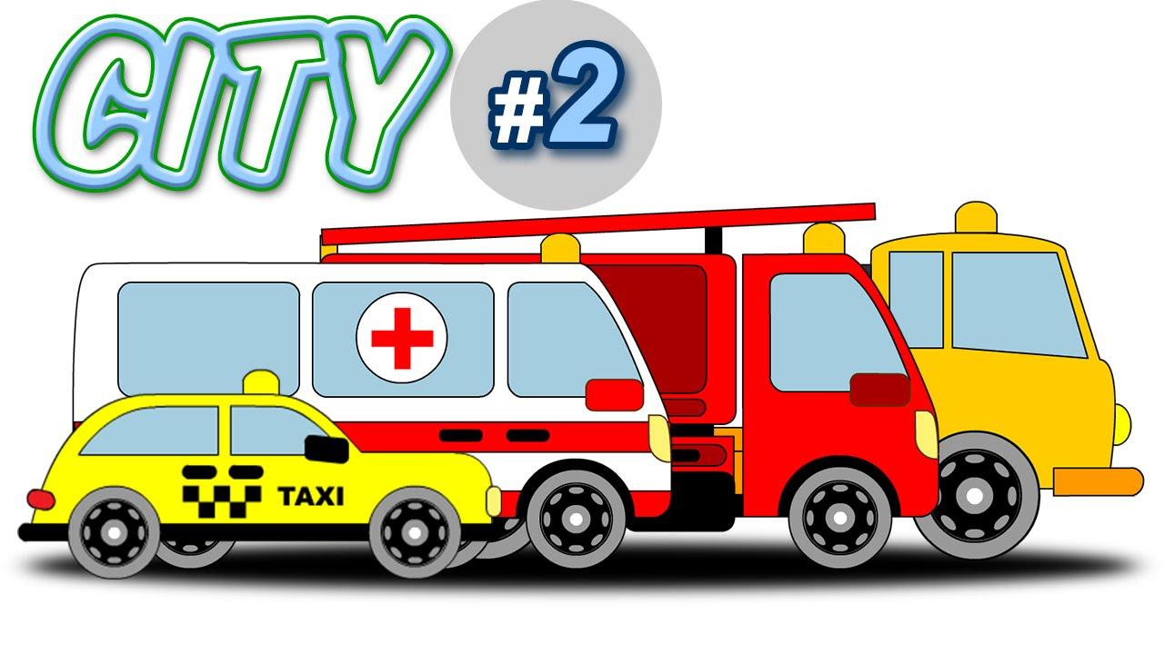 Coloriamo le macchine taxi polizia ambulanza camion