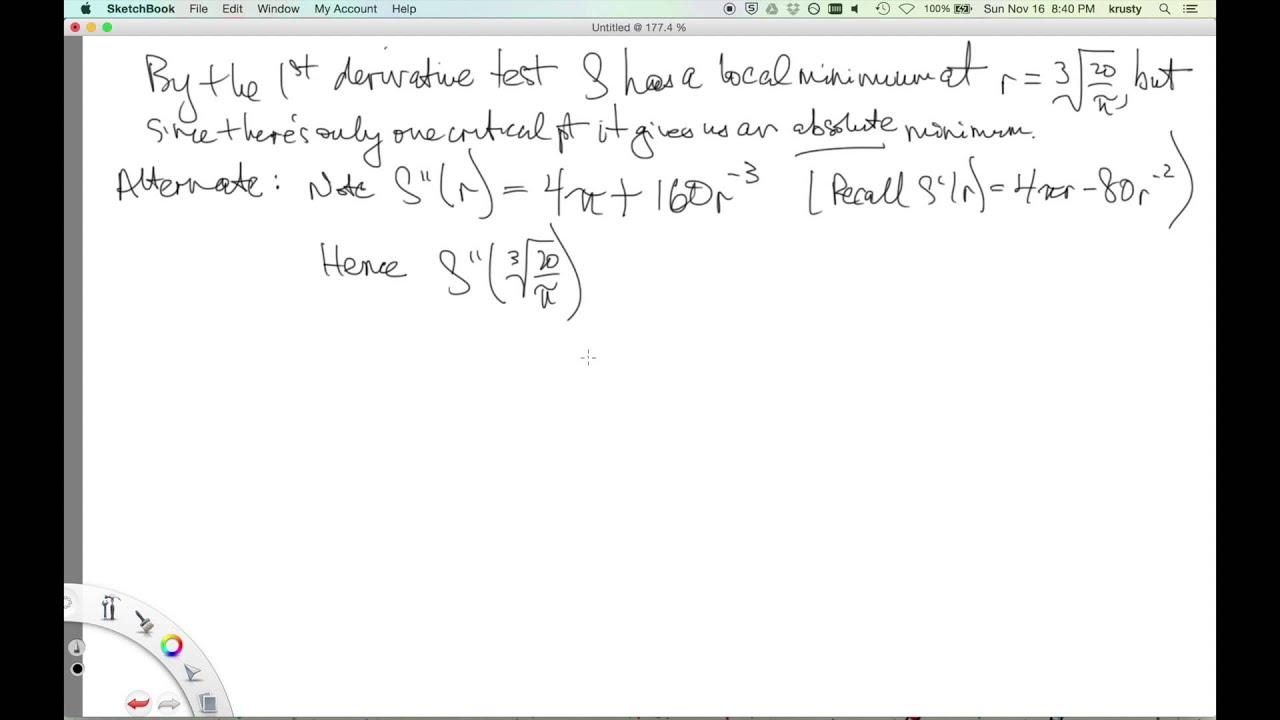 Krystal math with dr kish calculus 1 optimization geometry krystal math with dr kish calculus 1 optimization geometry and modeling youtube robcynllc Choice Image