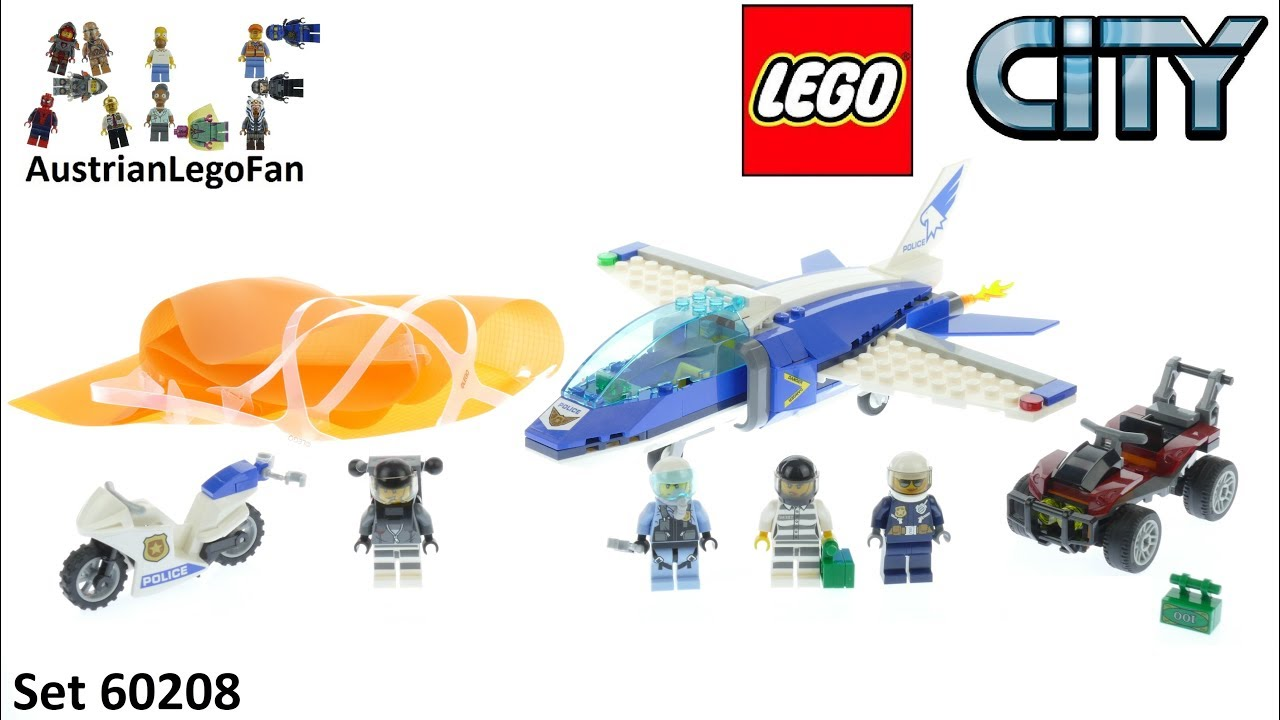 Lego City 60208 Sky Police Parachute Arrest Speed Build