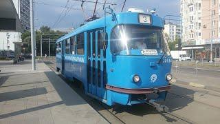 Зарисовка Уходяшая эпоха! Прощай Трамвай Татра Т3 МТТЧ, МТТЕ в Москве