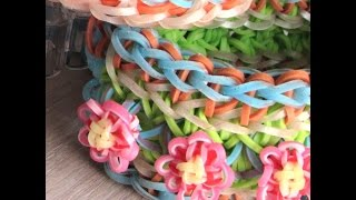 Широкие браслеты из резинок Rainbow Loom