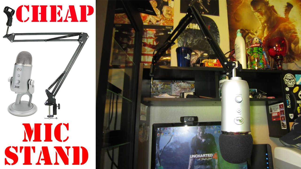 Cheap Adjustable Mic Stand Blue Yeti Desk Stand  YouTube