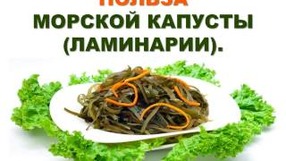 Польза морской капусты (ламинарии).