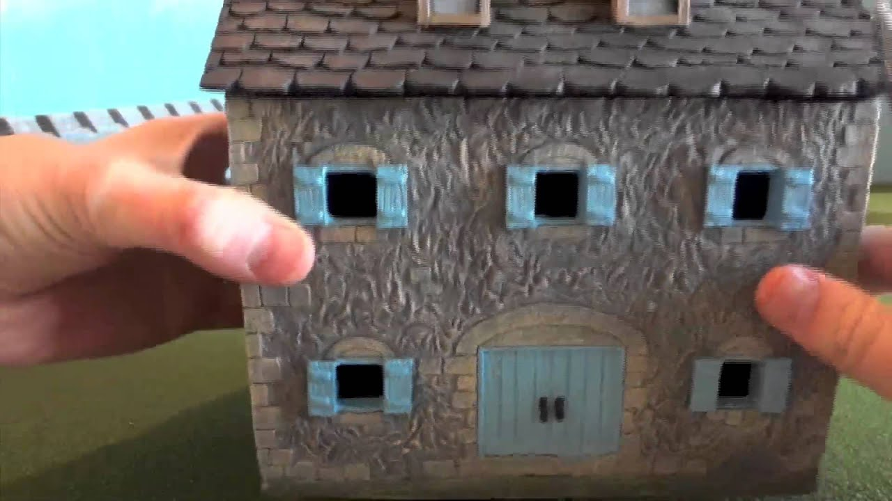 Miniature building authority stone farm house and small for How to go about building a house