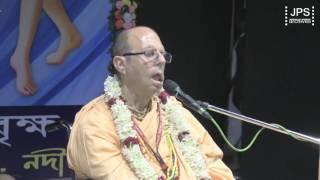 20170226 H.H.Jayapataka Swami gave an address to Krishnanager Bhakti Vriksha Group.
