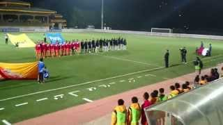 GNH Travel & Service : The National Anthem of Bhutan and Qatar at Changlimithang stadium 17 Nov 2015