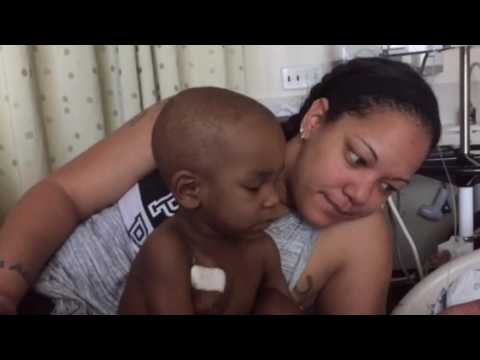 Ayden and mommy fighting cancer