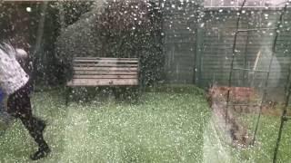 2018 freak uk weather in 4k   mega hailstorm extremeweather