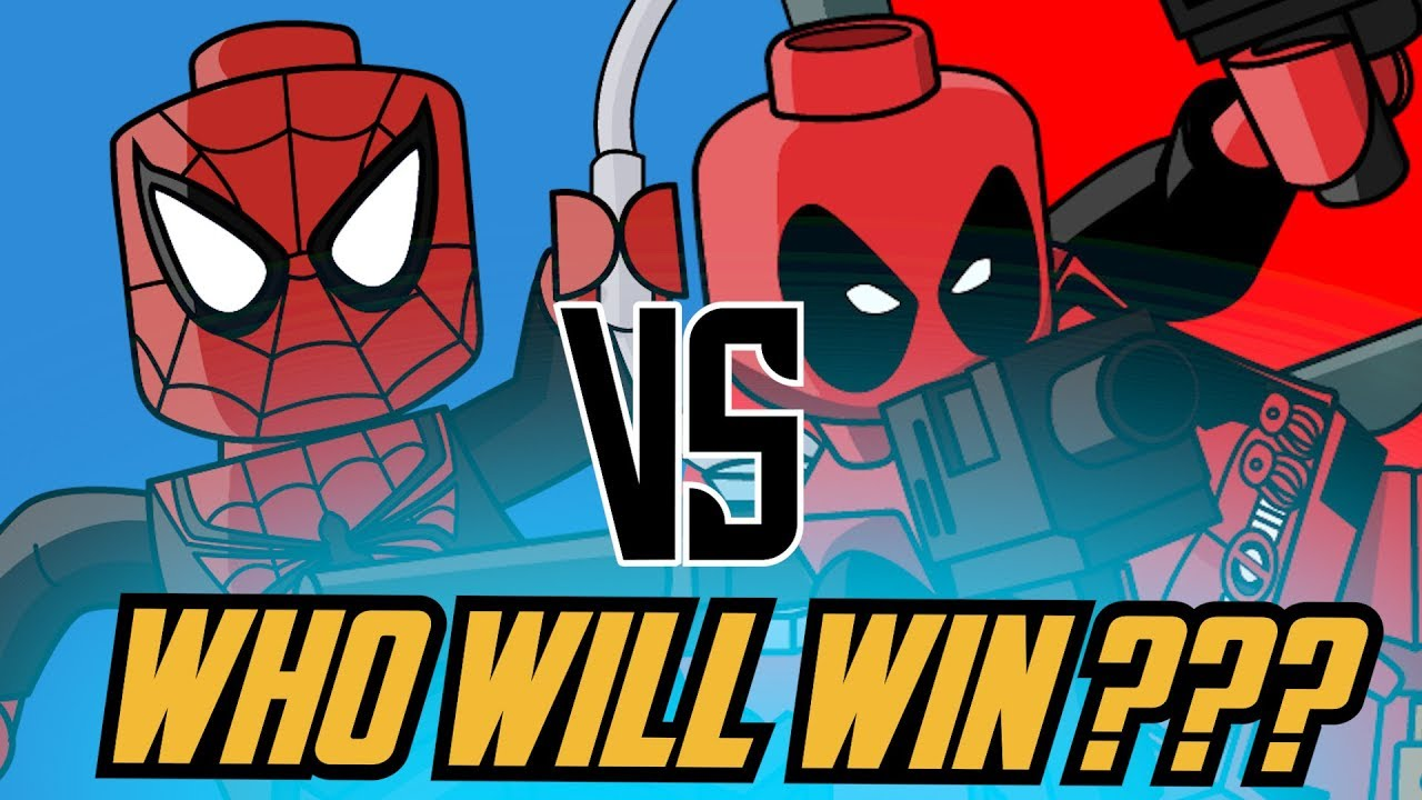 Spiderman VS Deadpool | Coloring Pages For Kids | JolKid ...