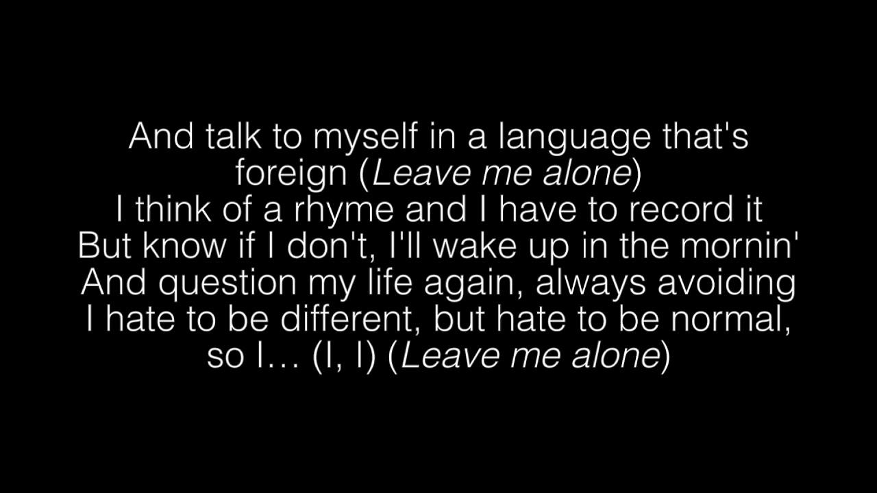 Download NF- Leave Me Alone Lyrics