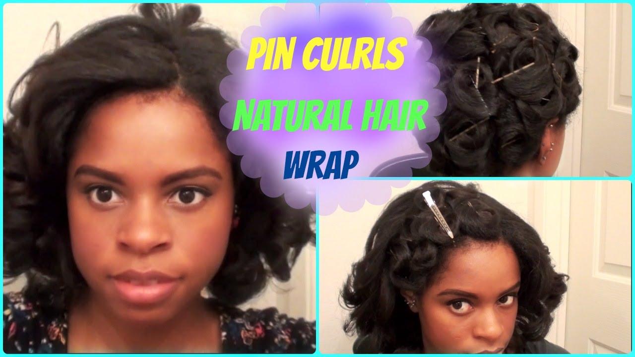pin-curl hair wrap (flat-ironed hair)