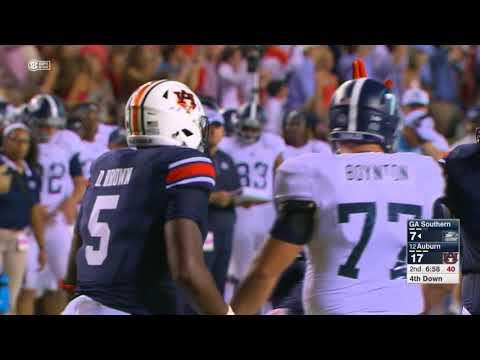 Auburn Football vs. Georgia Southern Highlights