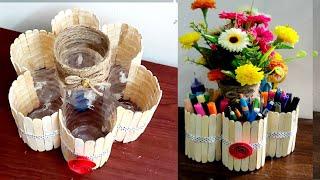Unique Plastic bottle craft idea #plasticbottle#organizer #Best out of waste plastic bottle craft