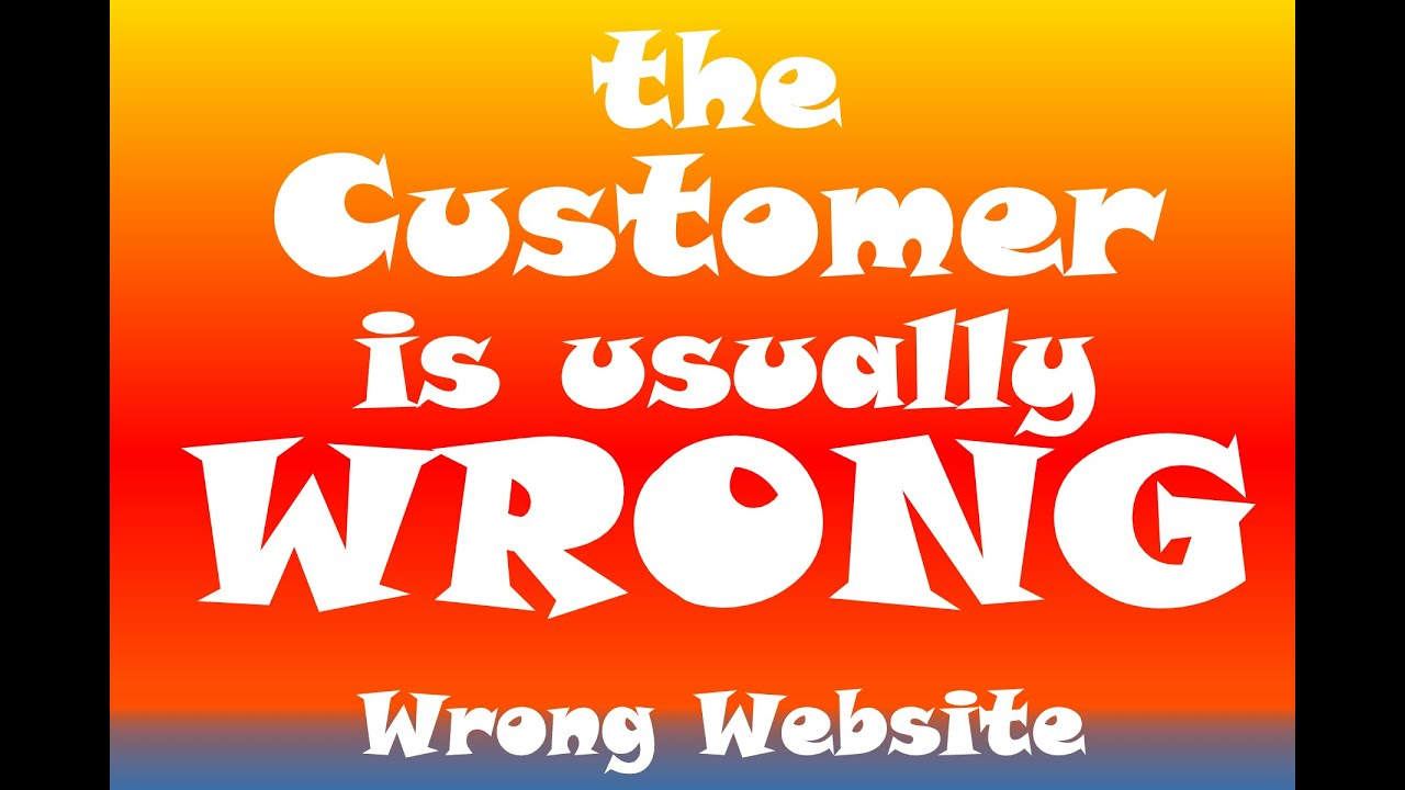 Customer Wrong: S1E13 Wrong Website
