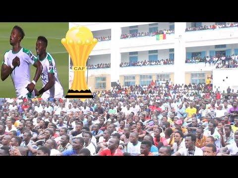 L'ambiance à l'Ucad pour la 1ére sortie de la can 2019 des lions contre la Tanzanie