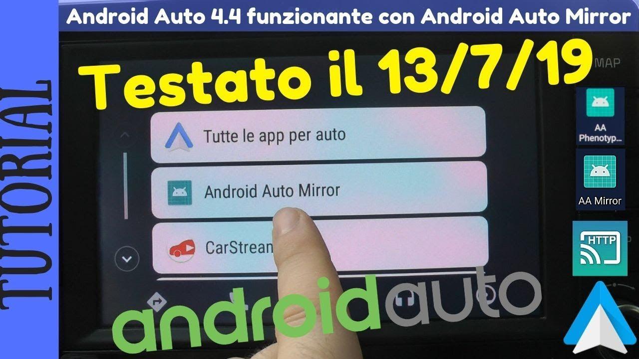 TUTORIAL - Android Auto Mirror funzionante su Android Auto 4 4 592344