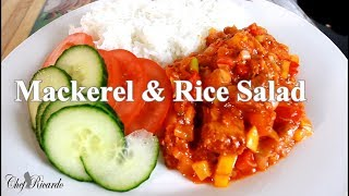 How To Make Mackerel & Rice Salad  Amazing Dish | Chef Ricardo Cooking