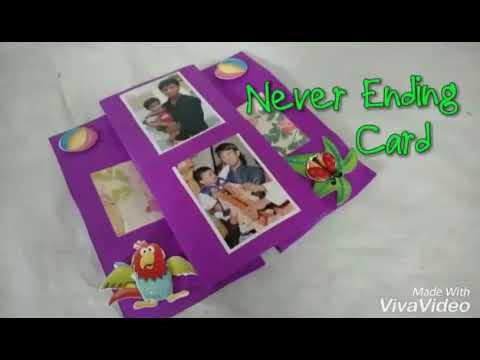 Handmade Never Ending Card .. Rajneesh Dara