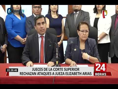 Jueces de Corte Superior de Justicia rechazan ataques a Elizabeth Arias