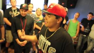 (14 year old rapper ) Young Nez vs Ed Dogg - NEXTRapBattles - AHAT - Utah - Tryout Event