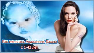 Как менялась Анджелина Джоли  с 1-42 лет.
