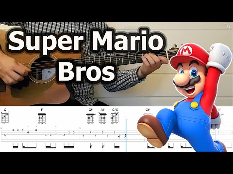 Super Mario Bros - Main Theme (Guitar Cover Tutorial With Tabs)