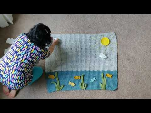 CROCHET WHALE BABY BLANKET - SETTING UP CROCHET APPLIQUES - ARIANA HALL