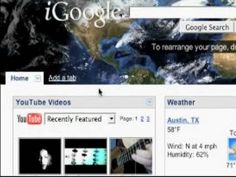 How to Use iGoogle : Themes in iGoogle