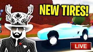 🔴 The INSANE Jailbreak TIRE UPDATE Has Arrived! | PLAYING WITH FANS! | 4K! | ROBLOX JAILBREAK LIVE