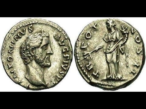 ✅Денарий, 139 год нашей эры, АНТОНИН ПИЙ, Denarius, 139 AD, ANTHONY Pius👍
