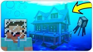 НУБ НАШЁЛ ПОДВОДНЫЙ ДОМ В МАЙНКРАФТ! (СЕКРЕТНЫЙ ДОМ ПОД ВОДОЙ) ПОИСК СОКРОВИЩ Minecraft