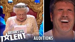 Download OMG! The Queen Comes And ROASTS The Judges..Watch Their Reaction! Britain's Got Talent 2019 Mp3 and Videos